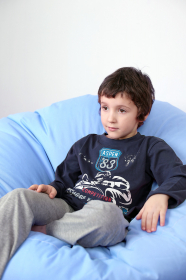Dětské pyžamo modro šedé